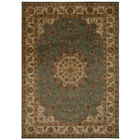 kathy ireland Ancient Times Palace Teal Area Rug by Nourison - 7'9 x 10'10