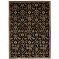 kathy ireland Ancient Times Persian Treasure Black Area Rug by Nourison - 3'9 x 5'9