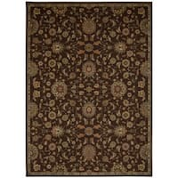 kathy ireland Ancient Times Ancient Treasures Brown Area Rug by Nourison - 9'3 x 12'9