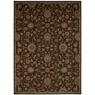 kathy ireland Ancient Times Ancient Treasures Brown Area Rug by Nourison (7'9 x 10'10)