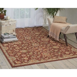 kathy ireland Ancient Times Ancient Treasures Brown Area Rug by Nourison (3'9 x 5'9)