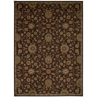 kathy ireland Ancient Times Ancient Treasures Brown Area Rug by Nourison (5'3 x 7'5)