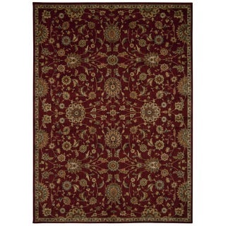 kathy ireland Ancient Times Ancient Treasures Red Area Rug by Nourison (5'3 x 7'5)