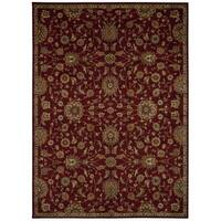 kathy ireland Ancient Times Ancient Treasures Red Area Rug by Nourison (7'9 x 10'10) - 7'9 x 10'10