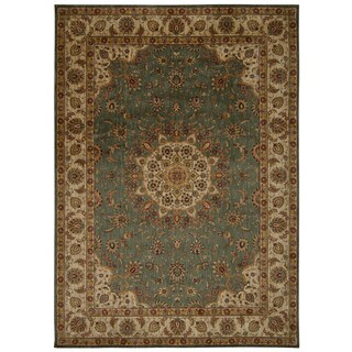 kathy ireland Ancient Times Palace Teal Area Rug by Nourison (5'3 x 7'5)