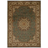 kathy ireland Ancient Times Palace Teal Area Rug by Nourison (3'9 x 5'9) - 3'9 x 5'9