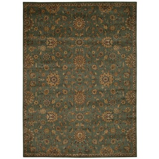 kathy ireland Ancient Times Ancient Treasures Teal Area Rug by Nourison (7'9 x 10'10)
