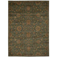kathy ireland Ancient Times Ancient Treasures Teal Area Rug by Nourison - 7'9 x 10'10