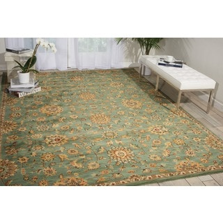 kathy ireland Ancient Times Ancient Treasures Teal Area Rug by Nourison (9'3 x 12'9)