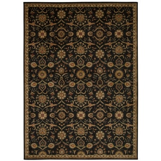 kathy ireland Ancient Times Persian Treasure Black Area Rug by Nourison (7'9 x 10'10)