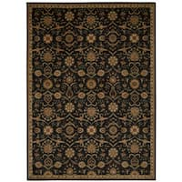 kathy ireland Ancient Times Persian Treasure Black Area Rug by Nourison - 7'9 x 10'10