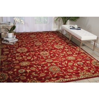 kathy ireland Ancient Times Ancient Treasures Red Area Rug by Nourison (9'3 x 12'9)