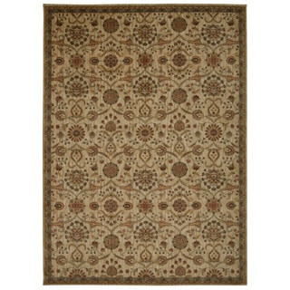 kathy ireland Ancient Times Persian Treasure Ivory Area Rug by Nourison (9'3 x 12'9)