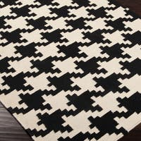 Annemasse Flatweave Houndstooth Accent Area Rug