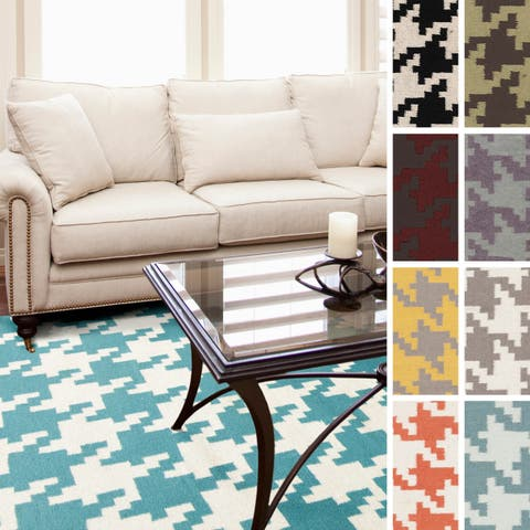 Meaux Flatweave Houndstooth Area Rug