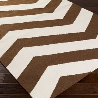 West Flatweave Chevron Runner Rug