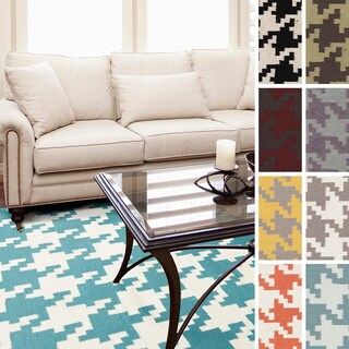 Vienna Flatweave Houndstooth Area Rug (9' x 13')