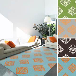 Raphael 100-percent Wool Flatweave Geometric Area Rug (8'x11')