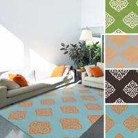 Raphael 100-percent Wool Flatweave Geometric Area Rug - 8' x 11'