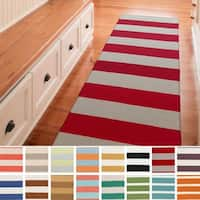Clearwater Flatweave Striped Runner Rug