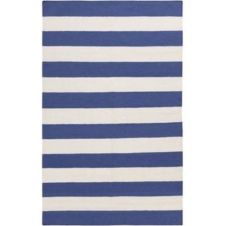 Lancaster Flatweave Striped Area Rug (3'6 x 5'6)