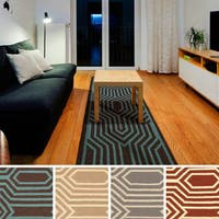 Draveil Flatweave Abstract Runner Rug
