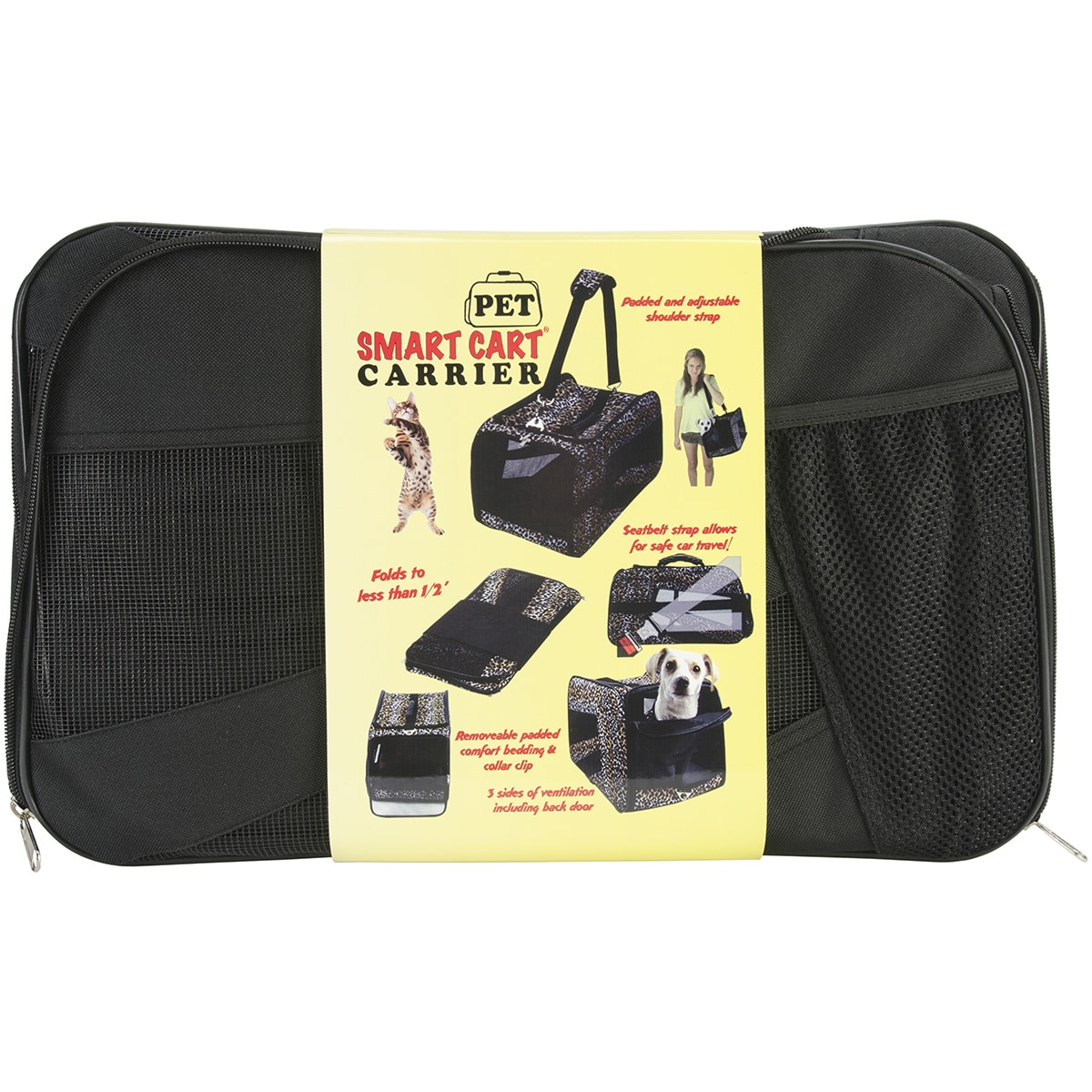 "dbEST Pet Smart Cart Carrier -Medium 20""X4""X11""-Black (Bl..."