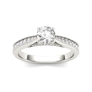 De Couer 14k White Gold 1 1/6ct TDW Diamond Solitaire Engagement Ring (H-I, I2)