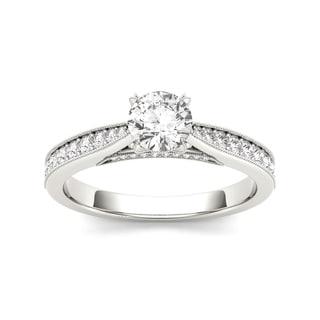 De Couer 14k White Gold 1 1/6ct TDW Diamond Solitaire Engagement Ring