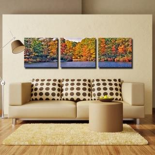 Bruce Bain 'Autumn Lake' Canvas Wall Art
