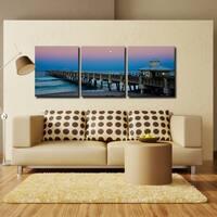 Bruce Bain 'Blue Pier II' Canvas Wall Art