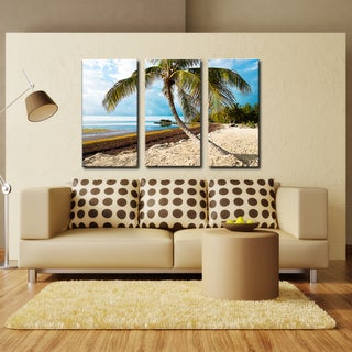 Bruce Bain 'Beach Palm' Canvas Wall Art