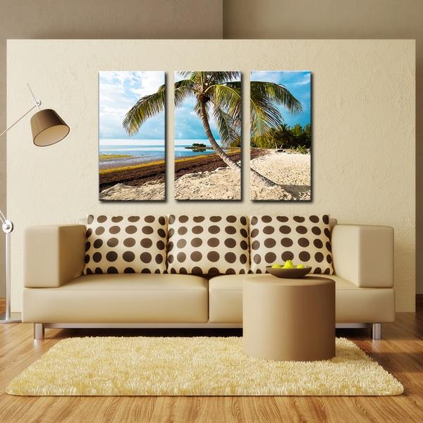 Bruce Bain 'Beach Palm' Canvas Wall Art