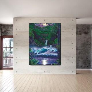 David Dunleavy 'Passage to Paradise' Canvas Wall Art - Purple