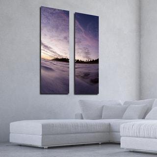 Nicola Lugo 'Purple Skies' Canvas Wall Art