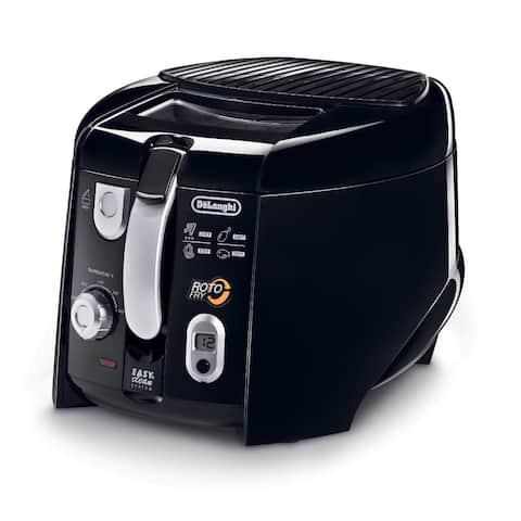 DeLonghi D28313UXBK Black 2.2 Lb. Cool Touch Roto Deep Fryer