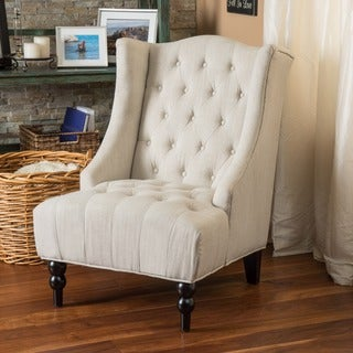 toddman fabric high back club chair by christopher knight home - High Back Chairs For Living Room