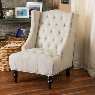 Link to Toddman Fabric High Back Club Chair by Christopher Knight Home Similar Items in Living Room Chairs