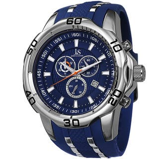 Joshua & Sons Men's Bold Swiss Quartz Chronograph Date Blue Strap Watch with FREE GIFT|https://ak1.ostkcdn.com/images/products/9497777/P16677983.jpg?impolicy=medium