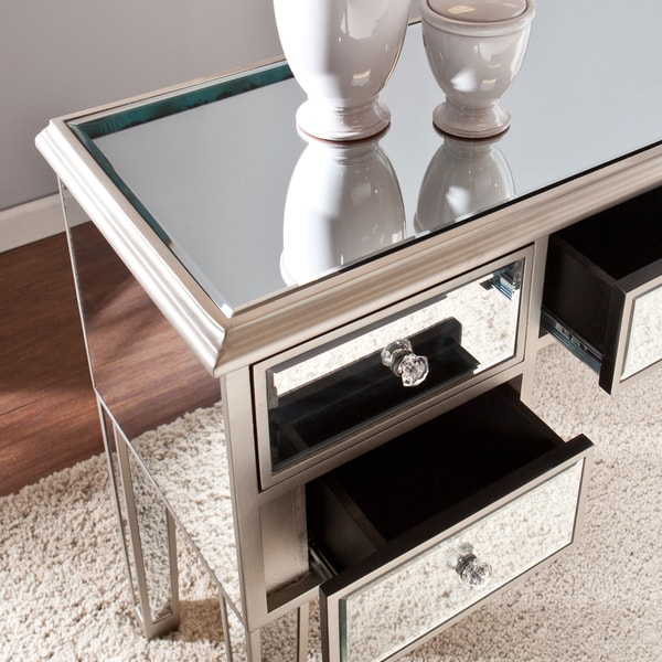Harper Blvd Monroe Mirrored Console Table   Free Shipping Today   Overstock.com    16678135