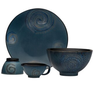 Red Vanilla Organic Blue 5-piece Serve Set