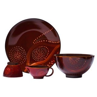 Red Vanilla Organic Brown 5-piece Serve Set