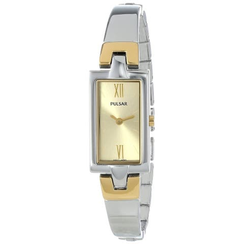 Pulsar Women's PEGG13 Fashion Two-Tone Stainless Steel Bangle Watch