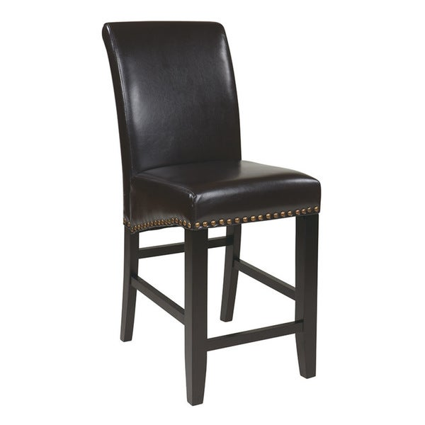 Metro 24-inch Parsonu0027s Eco Leather Barstool - Free Shipping Today - Overstock.com - 16678314  sc 1 st  Overstock.com & Metro 24-inch Parsonu0027s Eco Leather Barstool - Free Shipping Today ... islam-shia.org