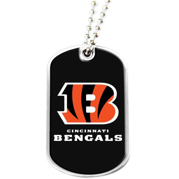 NFL Cincinnati Bengals Dog Tag Necklace Charm Gift Set