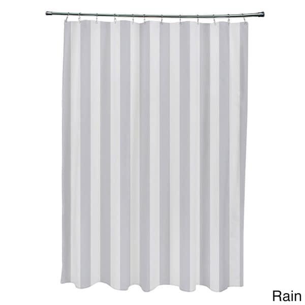 Classic Gray Ebydesign Striped Shower Curtain