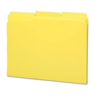 Sparco Bright 1/3 Cut 2-ply Top Tab File Folders (Box of 100)