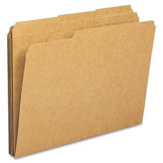 Sparco Heavyweight Kraft 1/3 Cut File Folders (Box of 100) https://ak1.ostkcdn.com/images/products/9498135/P16678387.jpg?impolicy=medium
