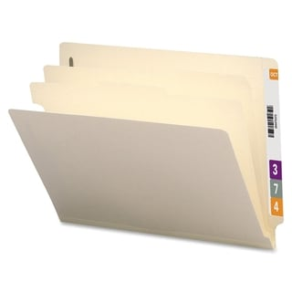 Sparco Manila End-tab 2-Div. Classificatn Folders Box of 10