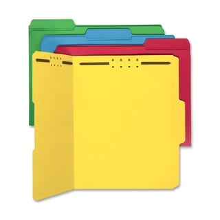 Sparco Bright Colored 1/3 Cut Tab Fastener Folders (Box of 50)